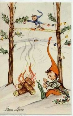 .This is such an interesting Christmas scene.