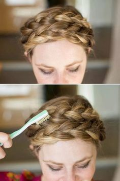Bridesmaid hair ideas. Wedding. Hair.