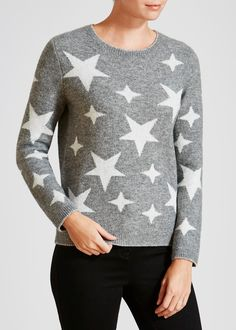 Star Print Christmas Jumper