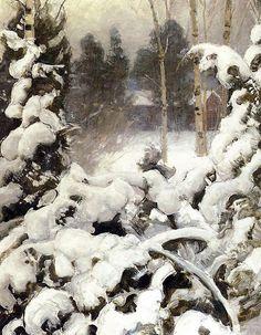 Winter   Pekka Halonen (1865-1933)