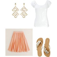 peach and gold summer