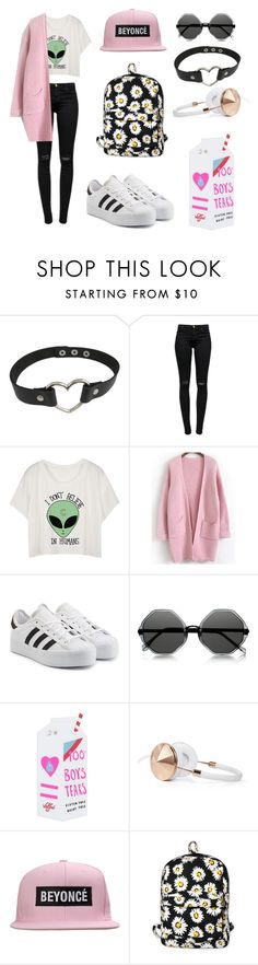 """Untitled #7"" by tova-g ❤ liked on Polyvore featuring J Brand, adidas Originals, Le Specs, Valfré, Frends, Motel, women's clothing, women, female and woman"