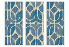Blue and Beige Pattern Canvas Triptych on OneKingsLane.com