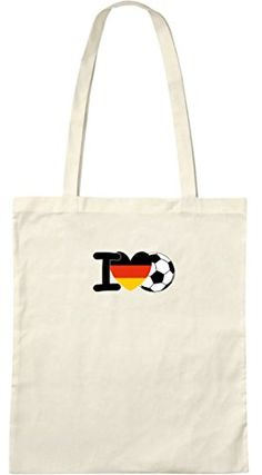I love Fußball; Stofftasche weiß  ShirtShop-Saar