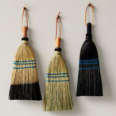 Whisk Brooms The Whisk Broom is a household essential . Ours are capped with a metal top for hanging neatly on a wall or inside a cabinet. Our brooms are made from natural corn husk and wire bound for strength Handmade in Pennslyvania Brooms And Brushes, Whisk Broom, Copper Nails, Broom Holder, Wire Binding, Natural Cleaning Products, Household Products, Round Mirrors, Frames