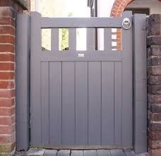Slatted Belvoir Wooden Gate - Can be used between brick pillars. Side Gates, Front Gates, Front Yard Fence, Entrance Gates, House Entrance, Front Doors, Wooden Garden Gate, Garden Gates And Fencing, Wooden Gates