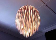 Interesting lamp shades made of recycled materials