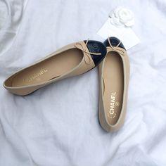 Chanel Ballet Flats #chanelshoes #chanelballetflats #shoes #chanel #inspiration
