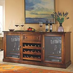 Buy the Siena Wine Credenza with Wine Refrigerator (Walnut) at Wine Enthusiast – we are your ultimate destination for wine storage, wine accessories, gifts and more! Wine Refrigerator, Wine Fridge, Wine Credenza, Buffet, Wine Dispenser, Wine Cellar Design, Beverage Center, In Vino Veritas, Italian Wine