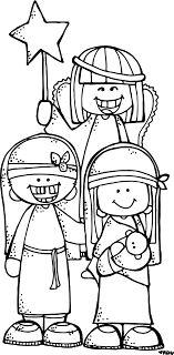 Melonheadz LDS illustrating: nativity
