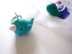 Narwhal stitch markers set of 4 snagfree by AbsoKnittingLutely, £8.00