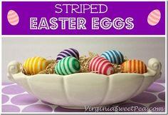 DIY easter crafts DIY Striped Easter Eggs DIY easter crafts