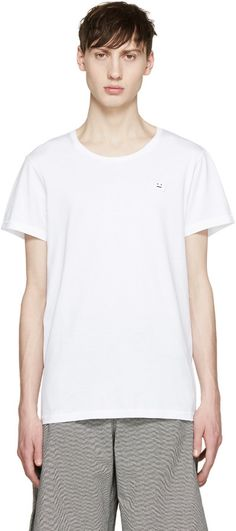 Acne Studios White Standard Face T-Shirt