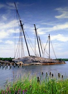 """Decaying Schooner """"Life isn't about waiting for the storm to pass…It's about learning to dance in the rain.""""   ~Vivian Greene"""