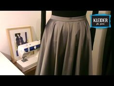 Best tutorial in German ever on how to sew everything around circle skirt: Zipper, Waistband etc. Good Tutorials, Sewing Clothes, Fun Crafts, Midi Skirt, Sewing Projects, Zipper, Couture, Knitting, Wedding Dresses