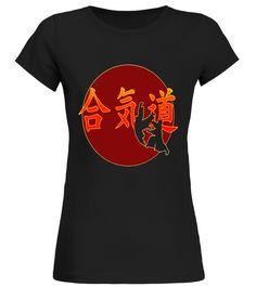 Iwama Aikido Chinese Symbols Logo Hand Fighting Tshirts S-3XL
