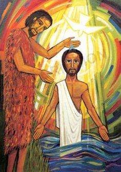 Jesus baptised by John - Banner