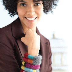 Yarn covered bangles by Mags Kandis - exclusive Planet Purl FREE pattern download