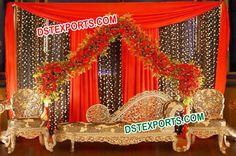 #Gorgeous #Wedding #Carved #Sofa #Set #Dstexports