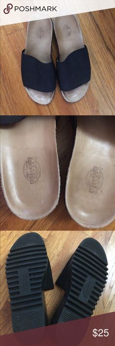 Vintage Authentic Comfort black slides-size 9 Vintage Authentic Comfort black slides-size 9. In excellent condition. Extremely comfortable! Authentic Comfort Shoes Sandals