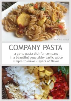 New Nostalgia Pasta in an oil-garlic sauce seasoned with fresh herbs ...