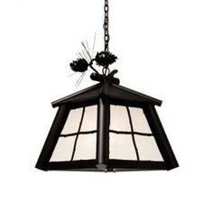 Steel Partners Saranac 1 Light Outdoor Hanging Lantern Finish: Black, Shade Type: Slag Glass Pretended