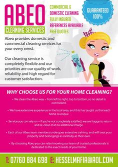 cleaning leaflet ideas