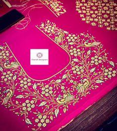 Cutwork Blouse Designs, Kids Blouse Designs, Wedding Saree Blouse Designs, Simple Blouse Designs, Hand Embroidery Design Patterns, Designer Blouse Patterns, Mirror Work Blouse Design, Hand Work Design, Maggam Work Designs