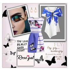 """""""Rosegal. Butterfly Style"""" by frenchfriesblackmg ❤ liked on Polyvore featuring Visionnaire and MARBELLA"""