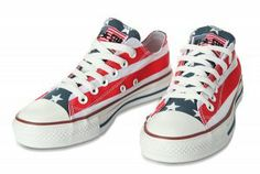 7146004b2de4 American Flag Converse by John Varvatos Chuck Taylor All Star Low Top  Canvas Shoes