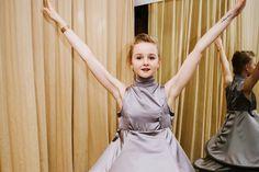 Corps de ballet dancer Claire Von Enck in her costume as one of the ballet's five senses.