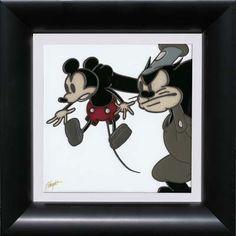 Disney Fine Art - Mickey and Pete. Biggs Ltd. Gallery. Heirloom quality bridal, art, baby gifts and home decor. 1-800-362-0677. $295.