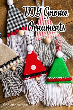 Fabric Christmas Decorations, Quilted Christmas Ornaments, Fabric Christmas Trees, Gnome Ornaments, Fabric Ornaments, Homemade Christmas Ornaments, Ugly Christmas Tree, Christmas Makes, Christmas Bazaar Crafts