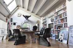 Him & Her chairs by architect and designer Fabio Novembre, at his own home-studio
