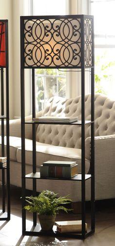 Grady Wide Shelf Floor Lamp - http://centophobe.com/grady-wide-shelf-floor-lamp/ -