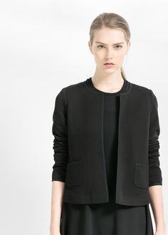 Striped textured jacket
