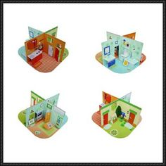 Pop-Up Dollhouse Free Paper Crafts Download
