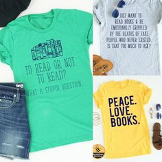 here my readers at?! I LOVE a good book and I love these sassy book tee's! Only $18 shipped! ad