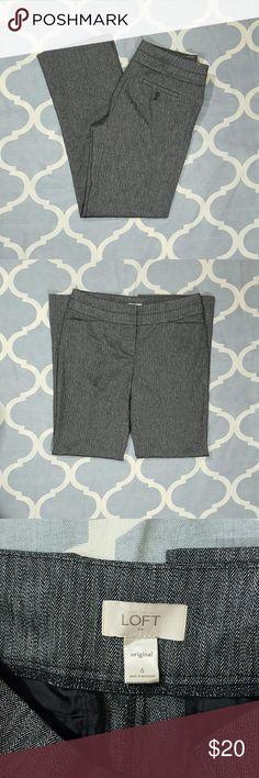"Ann Taylor LOFT Original Fit Gray Sz 6 Dress Pants Ann Taylor LOFT women's dress pants. Size 6. Original fit. Heather gray. Used condition. Length: 41"" Inseam: 32""  Rise: 10""  Waist: 17""  B1118 &e Ann Taylor Pants Straight Leg"