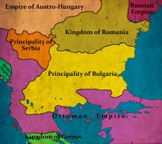 Bulgaria, according to the treaty of San Stefano, March, 1878