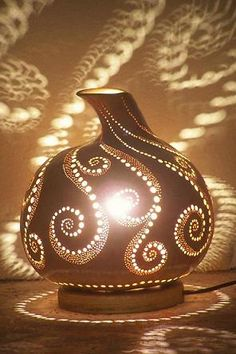 Gourds Crafts | Beautiful Gourd Lamp