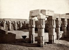 Luxor Temple. One of the earliest photographs of Luxor Temple, 1858. #Egypt #Earlyphotography #History