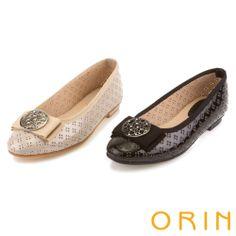 ORIN 魅力新時尚 愛心造型釦飾穿孔簍空娃娃鞋-黑色 - Yahoo!奇摩購物中心