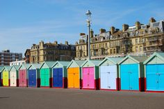 Using Hove Beach Huts to advertise the 'Great Escape': Europe's Leading Festival for New Music, Brighton Brighton England, Brighton Inglaterra, Brighton Beach Melbourne, Brighton And Hove, Brighton Sussex, Beach Pictures, Travel Pictures, Look Alike, Swimming Pools