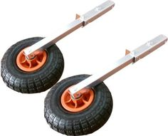 Boat Launching Wheels Flip Up Removable for Dinghy Canoe Other Small Boat