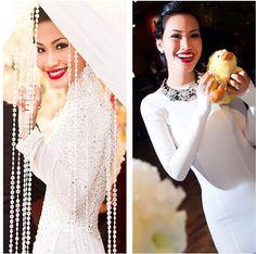 Nini Nguyen cùng trang phục áo dài truyền thống trong ngày cưới