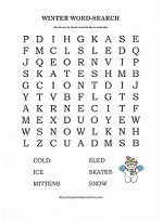 free winter word search for kids