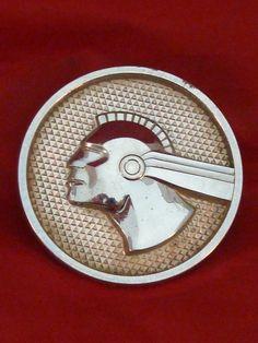 1950s Pontiac Chieftain Vintage Emblem Medallion Left Rear Quarter Panel Fender
