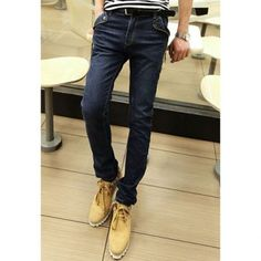 Fashion Style Solid Color Fitted Side Zippers Embellished Denim Pants For Men Online Shopping Stores, Cheap Clothes, Denim Pants, Zippers, Gentleman, Fashion Dresses, Black Jeans, Fitness, Men