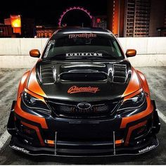 Tron meets autistic pumpkin edition Subaru WRX